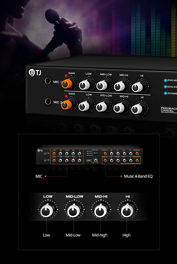 Mixer Karaoke TJ TEF-30